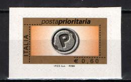 """ITALIA - 2006 - POSTA PRIORITARIA € 0,60 - """"I.P.S.Z. S.p.A. - ROMA"""" - AUTOADESIVO - 2001-10:  Nuevos"""