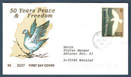 Isle Of Man 1995  Mi.Nr. 628 , EUROPA CEPT - Frieden Und Freiheit - FDC(3237) - First Day Of Issue 28 AP 1995 - 1995