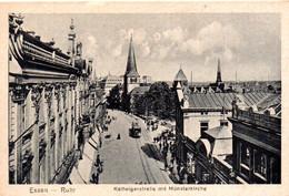 CPA ESSEN  (Allemagne) Kettwigerstrabe Mit Munsterkirche - Essen