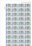 ESPAÑA. Año 1983. IV Centenario De La Muerte De Santa Teresa De Ávila. Pliego De 80 Sellos Y Bloque De 4 Sellos. - 1981-90 Unused Stamps