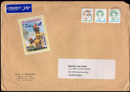 Nederland - Lettre - Priority - 2003 - Envoyé En Argentina - A1RR2 - Brieven En Documenten