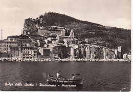 PORTOVENERE - GOLFO DEI POETI - PANORAMA DAL MARE - BARCA - ANIMATA - VIAGGIATA 1955 - Otras Ciudades