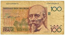 Belgium - 100 Francs - ND ( 1986 - 1989 ) - Pick 142 - Sign. 4 And 13 - Hendrik Beyaert - 100 Francs