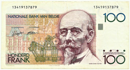 Belgium - 100 Francs - ND ( 1989 - 1992 ) - Pick 142 - Sign. 5 And 14 - Hendrik Beyaert - 100 Francs