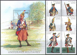 M3784 ✅ War Uniform Gun Cannon History Omnibus 1997 Guinea 6v + S/s Set MNH ** 15ME - Militaria