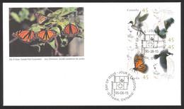 Canada Sc# 1563-1566 FDC Combination 1995 08.15 Migratory Wildlife - 1991-2000