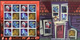 Canada Sc# 1668a MNH Pane/16 (in Souvenir Envelope) 1997 45c The Supernatural - Nuevos