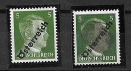 Autriche  N° 535 Et 535 Hitler  Tête Maculée Neufs  * * TB =  MNH VF   Le Moins Cher Du Site  Soldé  ! ! !   , - Errores & Curiosidades
