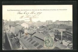 CPA Paris, Vue Panoramique Des Ateliers Du Chemin De Fer D`Orlèans Et La Rue Du Chevaleret, La Gare - Pariser Métro, Bahnhöfe