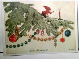 Alte, Seltene Künstler AK Farbig Von A. Roeseler. Frohe Adventszeit !. Ackermanns Kunstverlag Reihe : 677 - 18 - Ohne Zuordnung