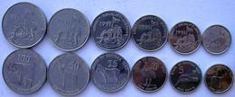 ERITREA SERIE COMPLETA DI 6 MONETE 100-50-25-10-5-1-CENT. FDC - Eritrea