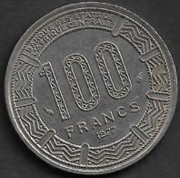 Monnaie GABON 100 FRANCS  1977 25 Mm Diametre Plat02 - Gabon
