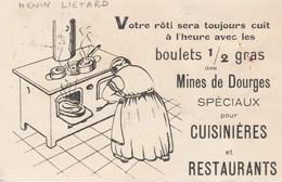 62 - HENIN - LIETARD - Société Anonyme Des Mines De Dourges - Votre Rôti Sera Toujours Cuit à L'heure Avec Les Boulets.. - Other Municipalities