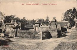CPA AK VIETNAM Environs De SAIGON - Tombeau D'un Mandarin (119591) - Vietnam