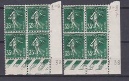 Cd226 YvT Préo 63 Semeuse Camée 30c Vert 2 Coins Datés 06/01/38 7ème Tirage A+B N** - Precancels
