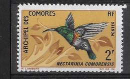 COMORES - 1967 - NECTARINIA CORMORENSIS -2F - NUOVO MNH**( YVERT 41 - MICHEL 79) - Other