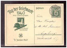 Dt.- Reich (020917) Propaganda Ganzsache P288 Tag Der Briefmarke 1940, WHW 7.1.1940,gel. Mit TST Kempten 23.4.1940 - Stamped Stationery