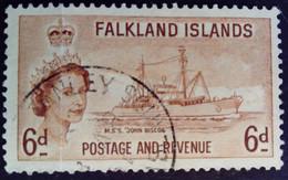 Falkland 1955 Bateau Boat Yvert 119 O Used - Falkland Islands