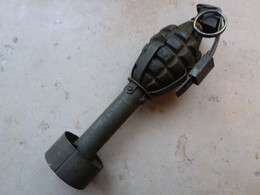 Ensemble Mk2 Et Adaptateur  US Mk2 Neutralisé Ww2 - Decorative Weapons
