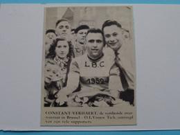 Constant VERHAERT Overwinnaar Brussel - O.L.Vrouw TIELT / 1956 ( Zie Foto Voor Detail ) KRANTENARTIKEL ! - Radsport