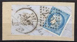 FRANCE ( OBLITERATION LOSANGE )  GC  2795   Pau Basses-Pyrénées   COTE  1.00 , A  SAISIR . 20/11 - 1849-1876: Période Classique