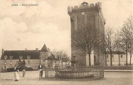 Cpa Pons Mairie Et Donjon - Pons