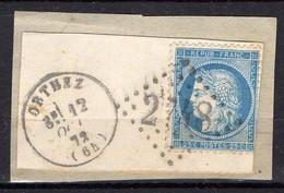 FRANCE ( OBLITERATION LOSANGE )  GC  2748   Orthez  Basses-Pyrénées  COTE  2.25 , A  SAISIR . 20/11 - 1849-1876: Période Classique