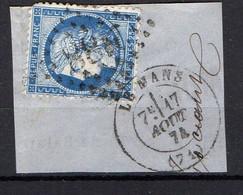 FRANCE ( OBLITERATION LOSANGE : GC  2188  Mans (le)  Sarthe   COTE  1.00 , A  SAISIR . 20/11 - 1849-1876: Klassieke Periode