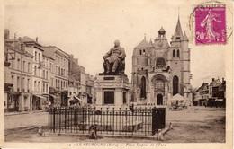 LE NEUBOURG - Place Dupont De L'Eure + Intérieur De L'Eglise (2 Cpa) - Le Neubourg