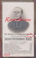 Priester Pastoor Joannes Maris Zonhoven Luik Zelk Tongeren Landen 1909 Doodsprentje Bidprentje - Devotion Images