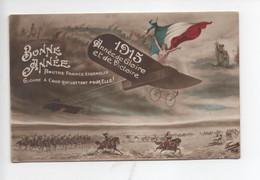"""""""Bonne  Année   -  1915   Année  De  Gloire  Et  De  Victoire    """"  Avion  , Napoleon Et  Autres  Images  De  Guerre - Heimat"""