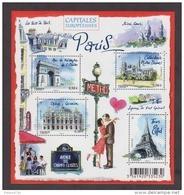 """FRANCE / 2010 / Y&T N° 4514/4517 En Bloc ** Ou F4514 ** (Feuillet """"Capitales Européennes : Paris"""") X 1 - Mint/Hinged"""