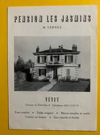 11117 -  Dépliant Pension Les Jasmins M Vernex Chemin Du Petit-Clos 8 Vevey - Advertising