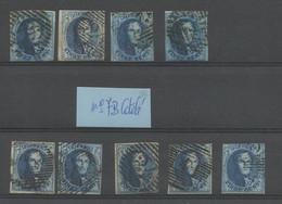 COB 7B Papier épais/côtelé 9 Exemplaires Dik/geribd Papier 9 Stuck - 1851-1857 Medallions (6/8)