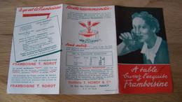 Dépliant Publicitaire Framboisine Noirot Années 30 - Publicidad
