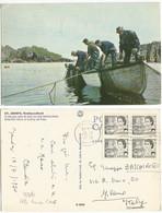 Canada 1970 QE2 C6 SG.608a Black Cpl. Booklet Pane Of4 Used Pcard Gander NFLD 19jul1970 X Italy - Otros
