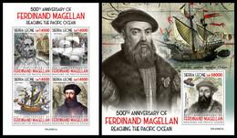 SIERRA LEONE 2020 - Ferdinand Magellan. M/S + S/S Official Issue [SRL200621] - Sierra Leone (1961-...)