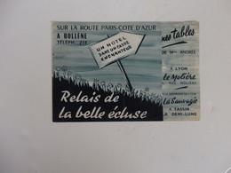 Dépliant Sur La Route De Paris-Cotes D'Azur Le Relais De La Belle écluse à Bollène (Vaucluse). - Reiseprospekte