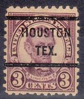 USA Precancel Vorausentwertung Preo, Bureau Texas, Houston 584-51 - Precancels