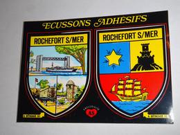 Carte Blason écusson Adhésif Autocollant Rochefort Sur Mer Pont   Aufkleber Wappen Coat Arms Adhesivo Adesivo Stemma - Oggetti 'Ricordo Di'