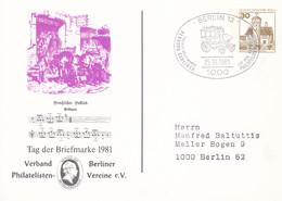 Berlin, PP 078 C2/004a, BuSchl 30,  Tag Der Briefmarke - Private Postcards - Used