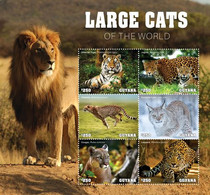 2020-08- GUYANA-   FELINS LARGE CATS          4V      MNH** - Félins