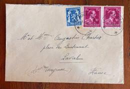 Belgique Courrier Ob. 1945  3 TP - Brieven En Documenten