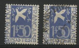 N° 294 (x2) COTE 77 € Neuf * (MH) Et Oblitéré. Colombe De La Paix. TB - Ongebruikt
