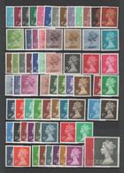 Grande-Bretagne - Série Courante 'Machin' - 69 Valeurs 1970-1991 ** - Machin-Ausgaben