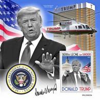 SIERRA LEONE 2020 - D. Trump, Arrows S/S. Official Issue [SRL200623b] - Boogschieten
