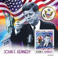 SIERRA LEONE 2020 - J.F. Kennedy, Arrows S/S. Official Issue [SRL200622b] - Boogschieten