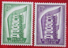 EUROPA CEPT 1956 OBP 994-995 (Mi 1043-1044) POSTFRIS/MNH ** BELGIE BELGIUM - Nuevos