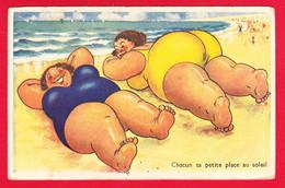 Illust-343P34 Chacun Sa Petite Place Au Soleil, Grosses Femmes - 1900-1949