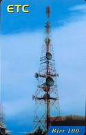 ETHIOPIE  -  Prepaid  - ETC Antenne  -  Birr 100 - Ethiopia